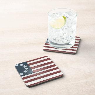 Bold Colonial Flag Motif - Beverage Coaster