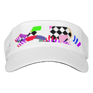 Bold Color Abstract Visor