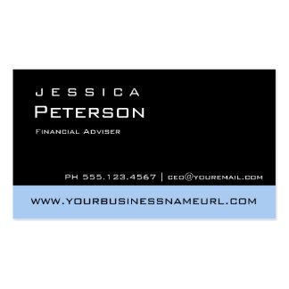Bold Color Blue Financial Advisor Business Cards
