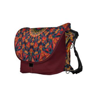 Bold Color Burst Messenger Bag