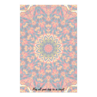 Bold Color Burst Stationery