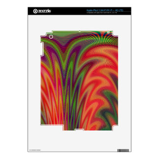 Bold Color Fan Decals For iPad 3