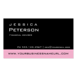 Bold Color Pink Financial Advisor Business Cards