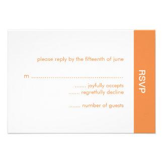 Bold Color Wedding RSVP Card - Orange Personalized Invitations