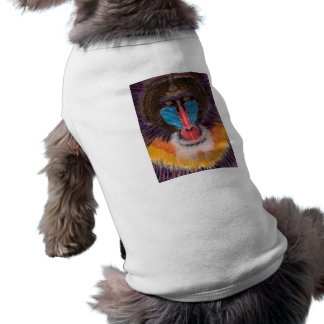 Bold Colored Baboon Face in Contemporary Style T-Shirt