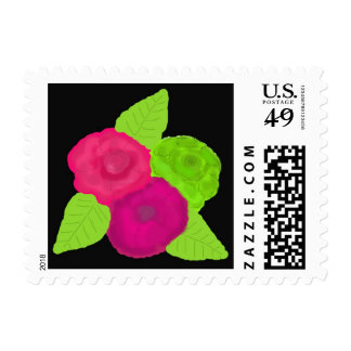 Bold Colored Floral Bouquet Postage