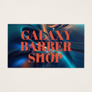 Bold Colorful Abstract Barber Shop Business Cards