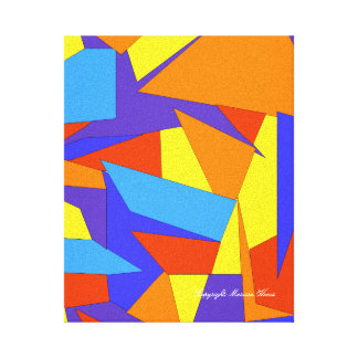 Bold Colorful Abstract Canvas
