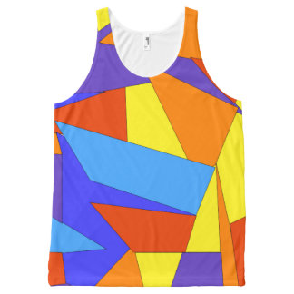Bold Colorful Abstract Print Unisex Tank Top All-Over Print Tank Top