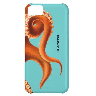Bold Colorful Aqua and Orange Octopus iphone 5 iPhone 5C Case