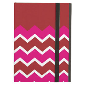 Bold Colorful Chevron Zigzag Pattern Red Hot Pink iPad Case