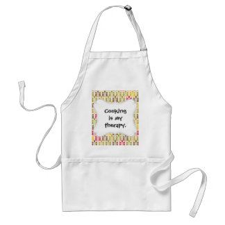 Bold Colorful Leaf Pattern Pink Green Brown Yellow Adult Apron