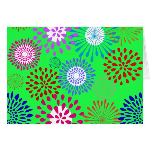 Green Flower Line Drawing : Bold colorful lime green flower line art pattern card zazzle