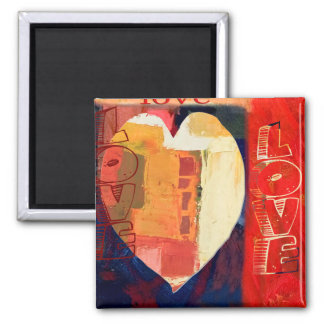 Bold Colorful LOVE  Abstract Valentines Magnet