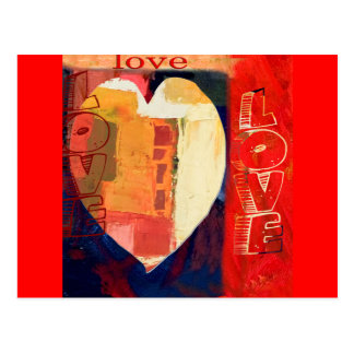 Bold Colorful LOVE  Abstract Valentines Postcards