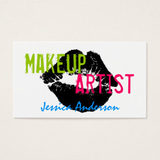 Bold & Colorful Makeup Artist Business Card