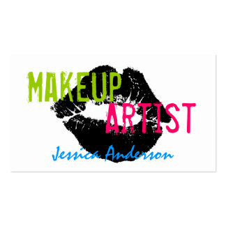 Bold & Colorful Makeup Artist Business Cards