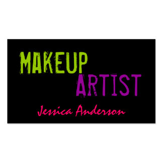 Bold & Colorful Makeup Artist Double-Sided Standard Business Cards (Pack Of 100)