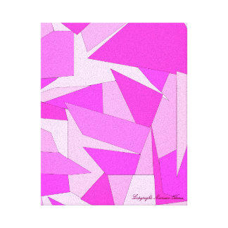 Bold Colorful Monotone Abstract Canvas