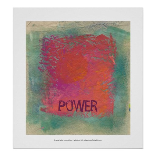 Bold colorful pink orange art painting customized poster