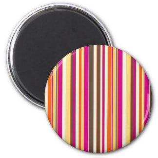 Bold Colorful Pink Orange Brown Stripes Pattern Magnet