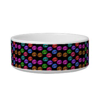 Bold Colorful Pouty Lipstick Lips Bowl