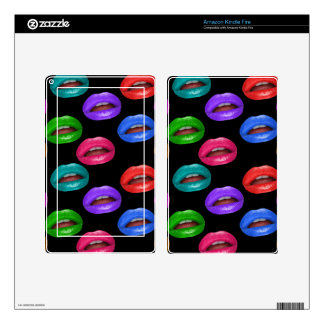 Bold Colorful Pouty Lipstick Lips Kindle Fire Decal