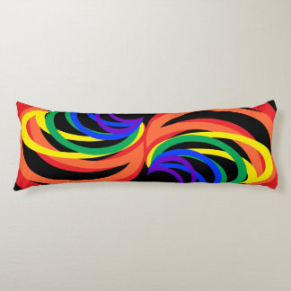 Bold Colorful Rainbow Crescents Body Pillow