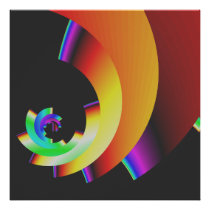 bold colorful vibrant abstract wall art