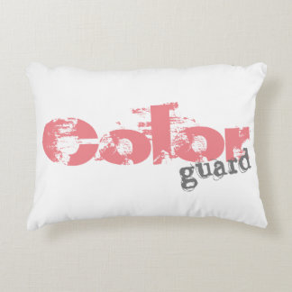 Bold Colorguard Text on Pillows
