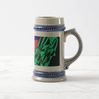Bold Colors A Net and the Moon 18 Oz Beer Stein