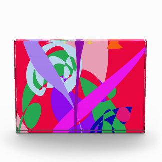 Bold Colors Abstract Art Red Acrylic Award