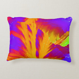 Bold Colors Blue Orange Red Accent Pillow