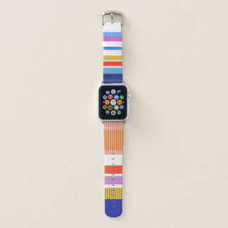 Bold colors, fine graphic design apple watch band