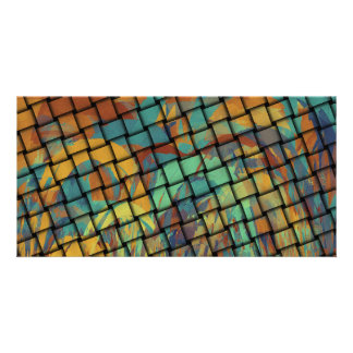 Bold Colors on Weave Card