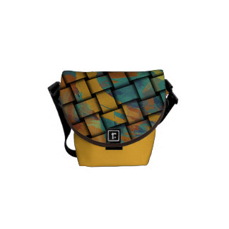 Bold Colors on Weave Courier Bag