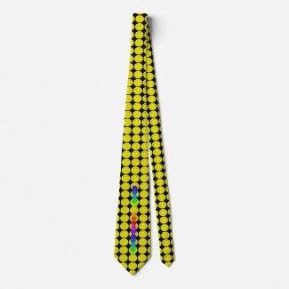 Bold Colors Rainbow Spectrum Yellow CricketDiane Neck Tie