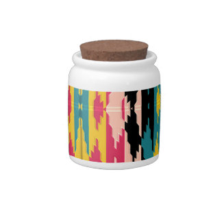 Bold Colors Tribal Aztec Candy Dishes