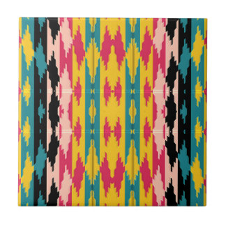 Bold Colors Tribal Aztec Ceramic Tile
