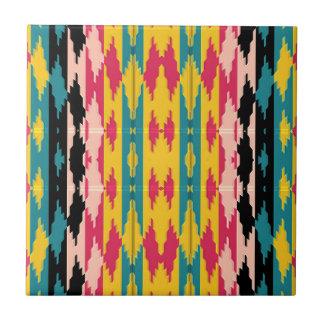 Bold Colors Tribal Aztec Ceramic Tiles