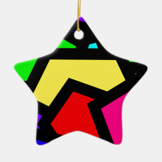 Bold colourful abstract ceramic ornament