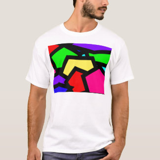 Bold colourful abstract T-Shirt