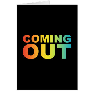 bold coming out card