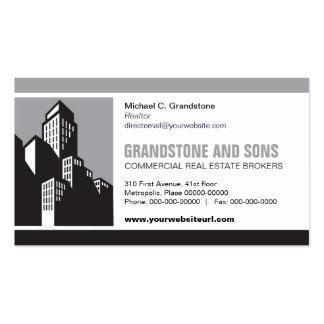 Bold Commercial Real Estate Business Card