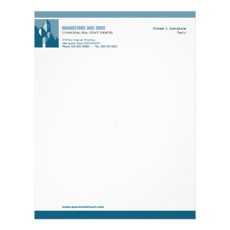 Bold Commercial Real Estate Letterhead