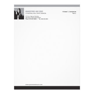 Bold Commercial Real Estate Letterhead