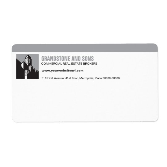 Bold Commercial Real Estate Shipping Label