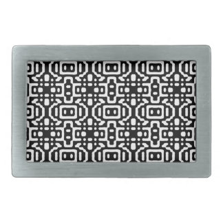 Bold & Cool Black and White Pattern Belt Buckle