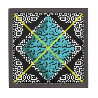 Bold & Cool Black and White Pattern Gift Box