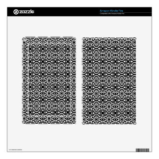 Bold & Cool Black and White Pattern Kindle Fire Decal
